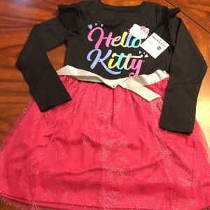 Hello Kitty long sleeved Tulle hemmed dress